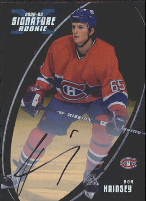 2002-03 BAP Signature Series Autographs Gold #186 Ron Hainsey