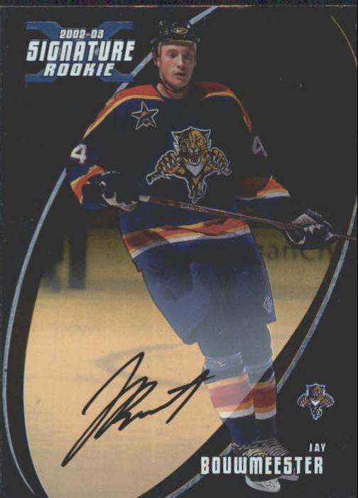 2002-03 BAP Signature Series Autographs Gold #191 Jay Bouwmeester