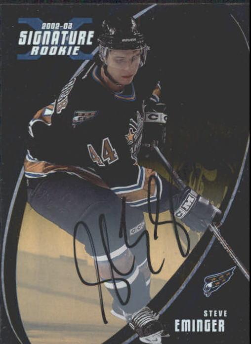 2002-03 BAP Signature Series Autographs Gold #200 Steve Eminger