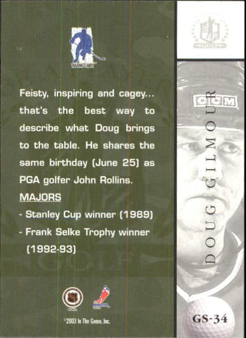2002-03 BAP Signature Series Golf #GS34 Doug Gilmour back image