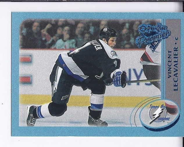 2002-03 O-Pee-Chee Premier Blue #14 Vincent Lecavalier