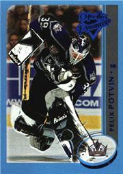 2002-03 O-Pee-Chee Premier Blue #18 Felix Potvin