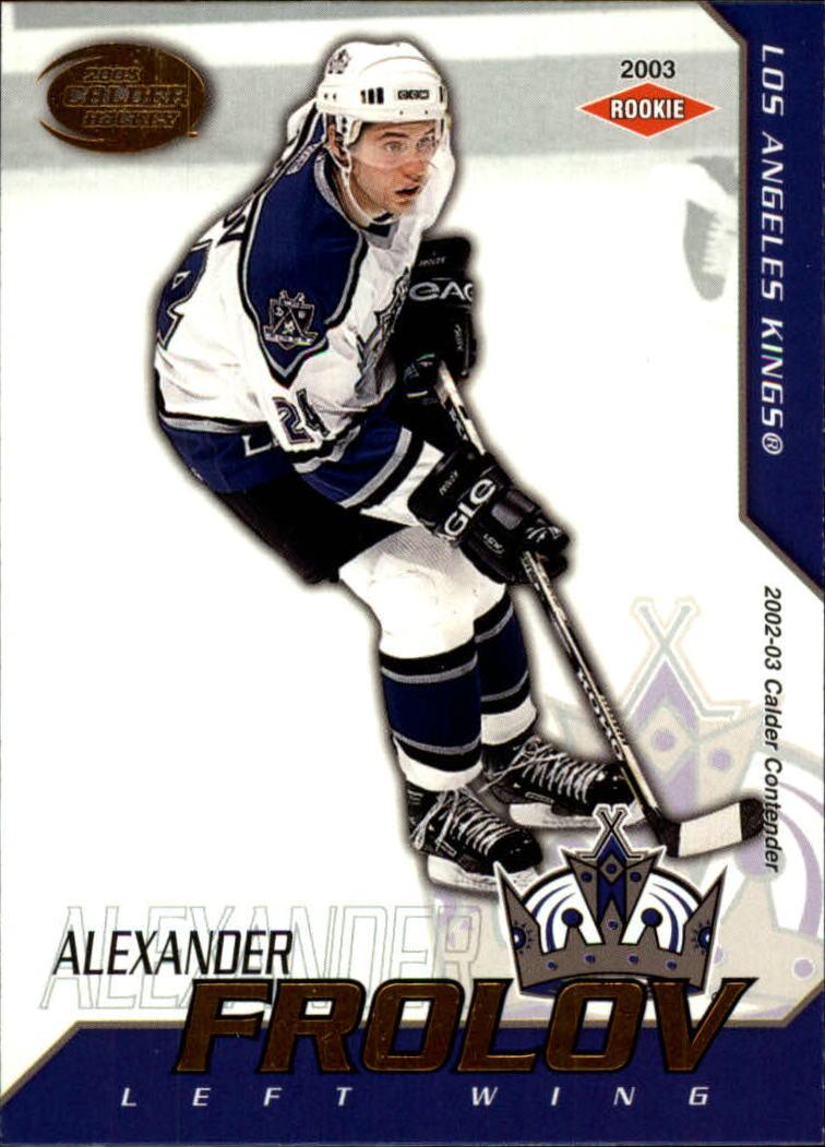 2002-03 Pacific Calder #122 Alexander Frolov RC