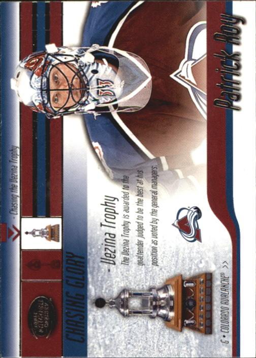 2002-03 Pacific Calder Chasing Glory #3 Patrick Roy