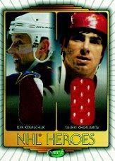 2002-03 Parkhurst Heroes Jerseys #NH1 Ilya Kovalchuk/Valeri Kharlamov