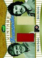 2002-03 Parkhurst Vintage Teammates #VT13 Bernie Parent/Dave Schultz
