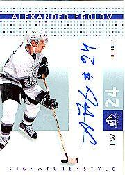 2002-03 SP Game Used Signature Style #AF Alexander Frolov