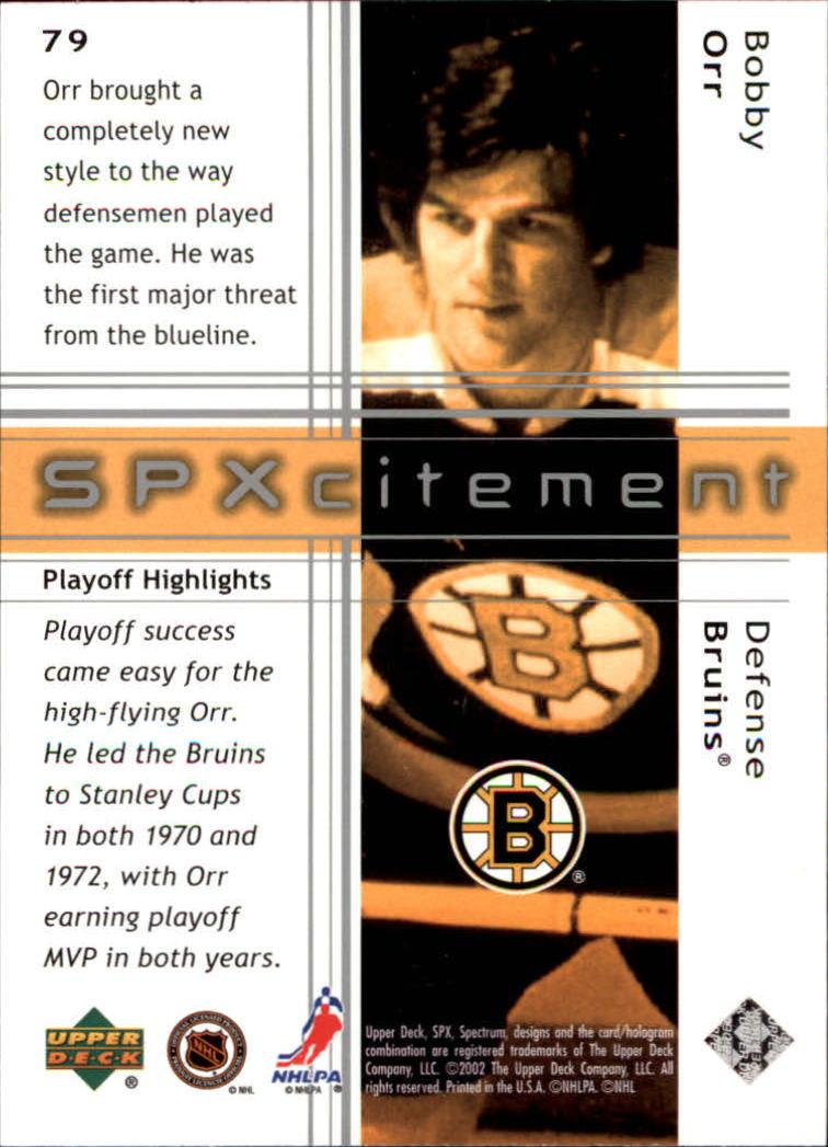 2002-03 SPx #79 Bobby Orr back image
