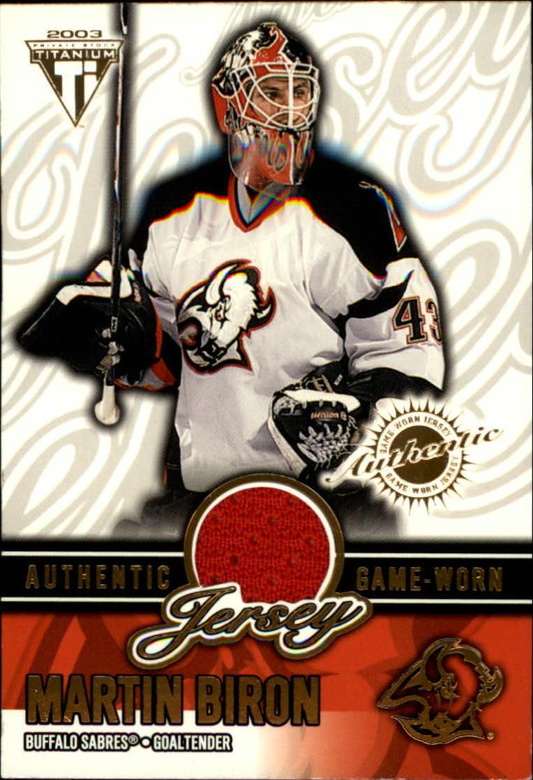 2002-03 Titanium Jerseys #6 Martin Biron/1019