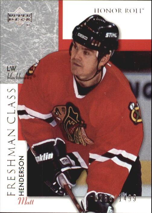 2002-03 Upper Deck Honor Roll #109 Matt Henderson RC