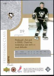 2002-03 Upper Deck Honor Roll #140 Brooks Orpik RC back image