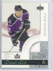 2002-03 Upper Deck Honor Roll #154 Alexander Frolov JSY RC