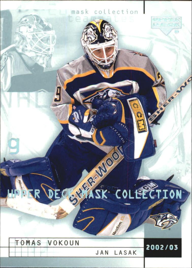 2002-03 UD Mask Collection #49 Tomas Vokoun/Jan Lasak