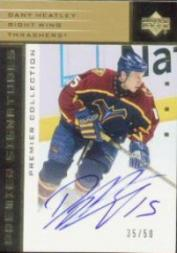2002-03 UD Premier Collection Signatures Gold #SDH Dany Heatley