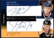 2002-03 Upper Deck Rookie Update #172 Rick Nash AU RC/Joe Thornton AU