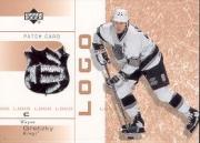 2002-03 Upper Deck Patch Card Logo #WG Wayne Gretzky