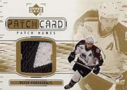 2002-03 Upper Deck Patch Card Name Plate #PF Peter Forsberg