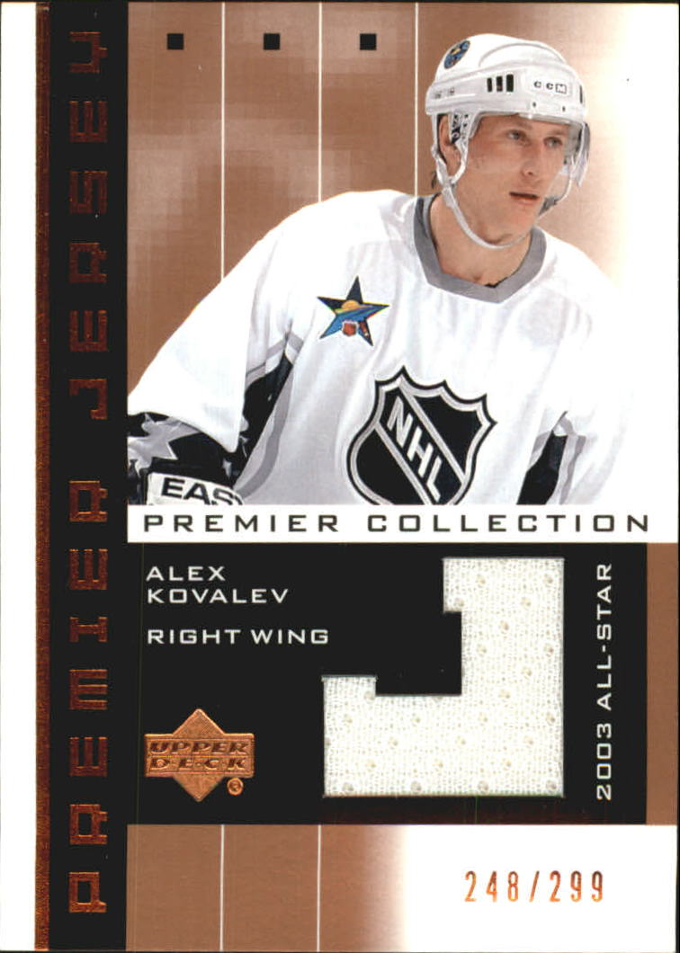 2002-03 UD Premier Collection Jerseys Bronze #AK Alexei Kovalev