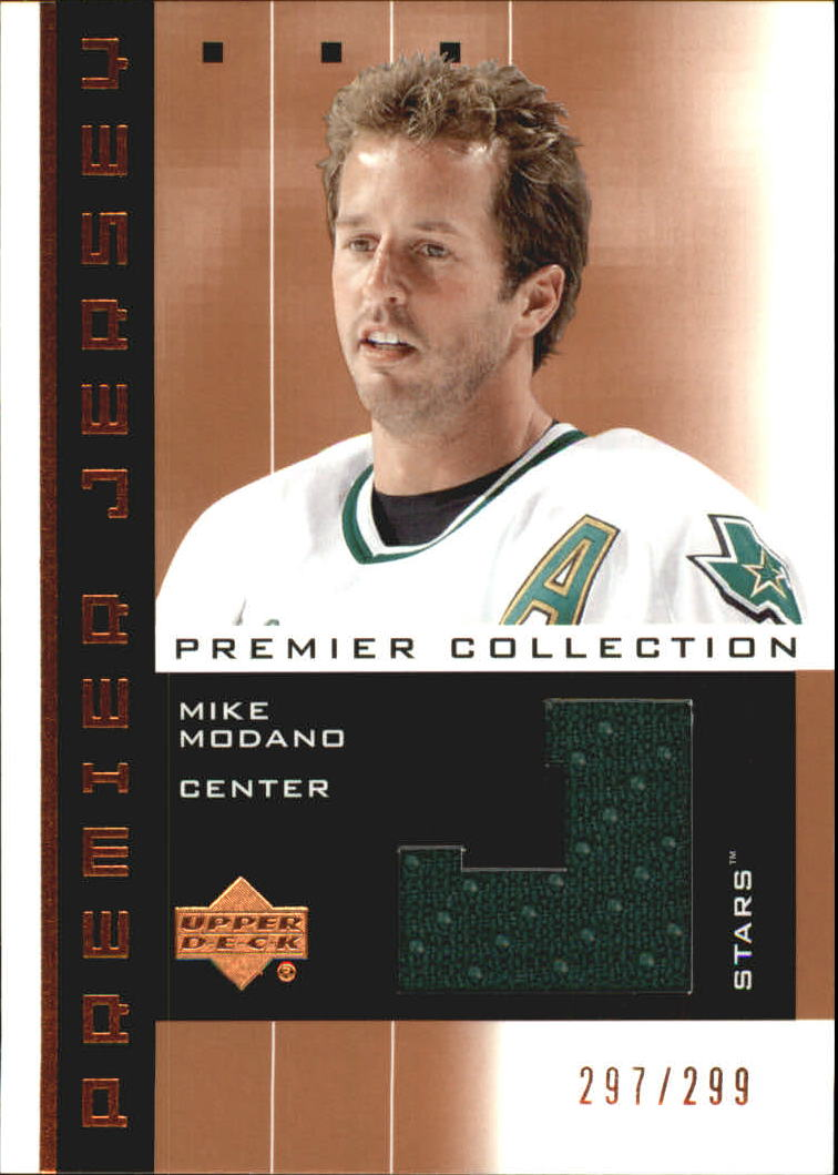 2002-03 UD Premier Collection Jerseys Bronze #MM Mike Modano