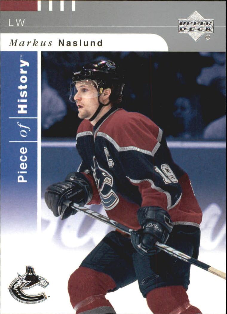 2002-03 UD Piece of History #87 Markus Naslund