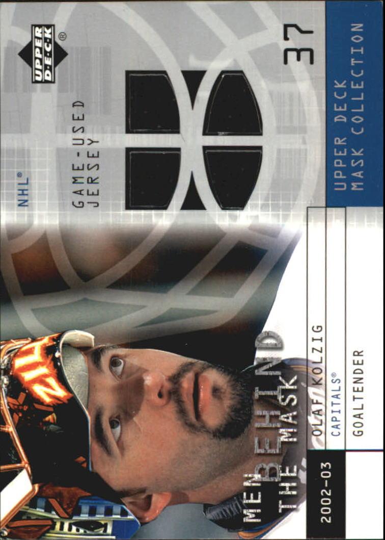 2002-03 UD Mask Collection Behind the Mask #BMOK Olaf Kolzig