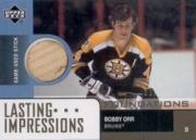 2002-03 Upper Deck Foundations Lasting Impressions Sticks #LBO Bobby Orr