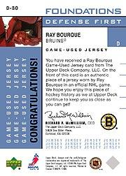 2002-03 Upper Deck Foundations Defense First #DBO Ray Bourque back image