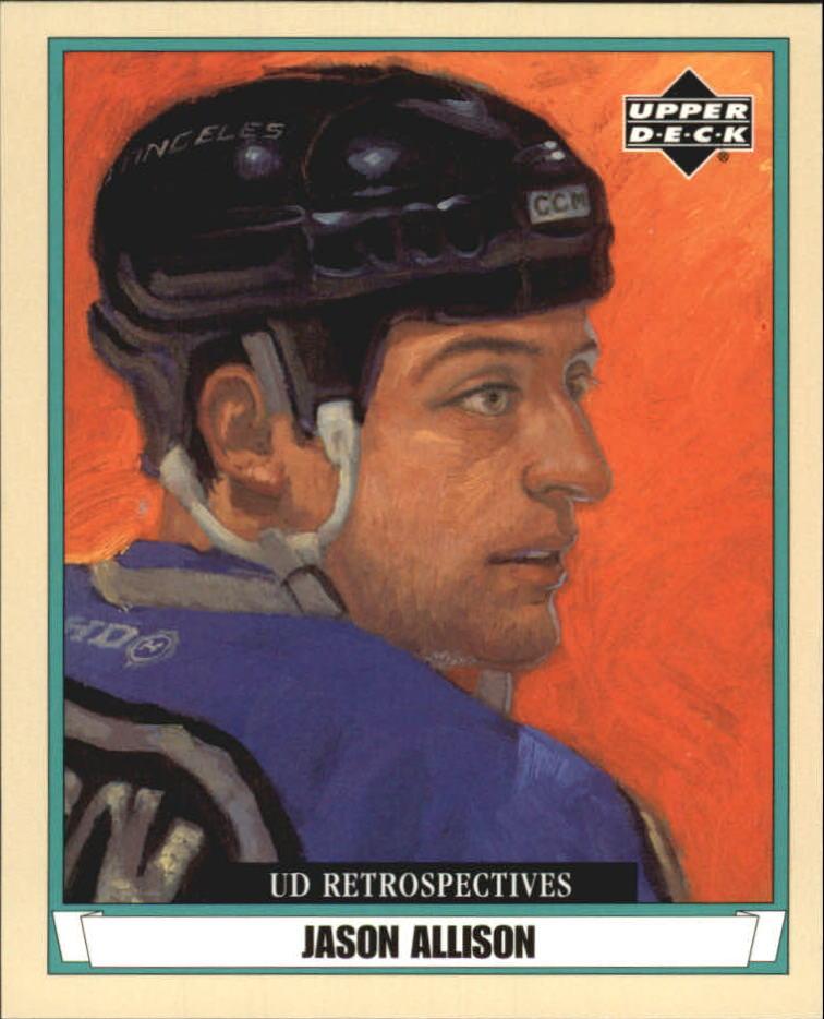 2002-03 UD Artistic Impressions Retrospectives #R44 Jason Allison