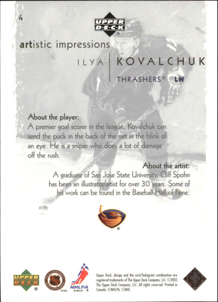 2002-03-UD-Artistic-Impressions-Hockey-Cards-Pick-From-List miniature 7