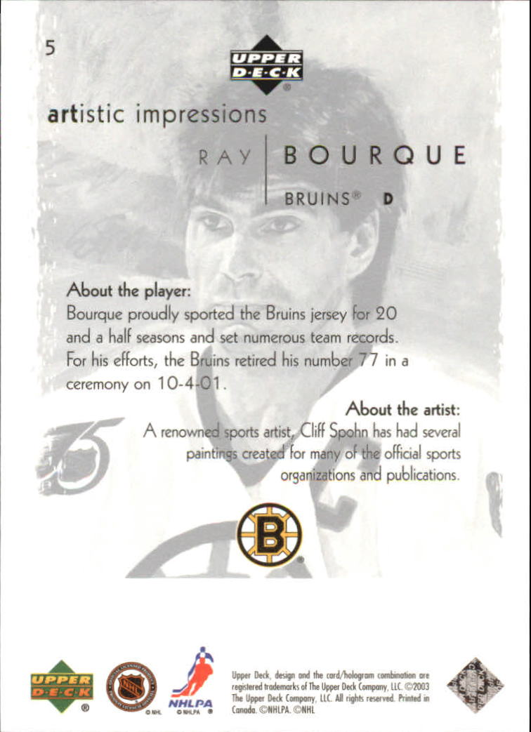 2002-03-UD-Artistic-Impressions-Hockey-Cards-Pick-From-List miniature 9