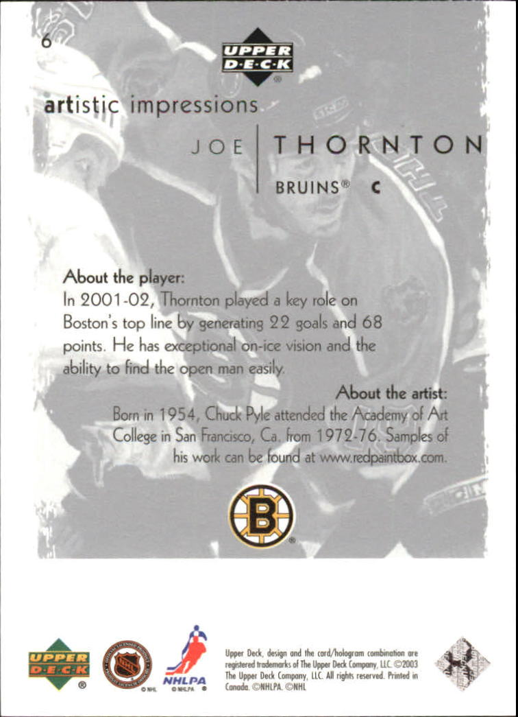 2002-03-UD-Artistic-Impressions-Hockey-Cards-Pick-From-List miniature 11