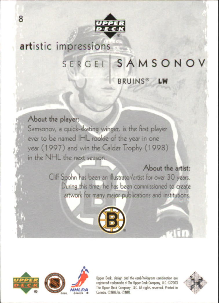 2002-03-UD-Artistic-Impressions-Hockey-Cards-Pick-From-List miniature 15