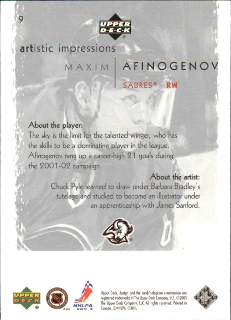2002-03-UD-Artistic-Impressions-Hockey-Cards-Pick-From-List miniature 17