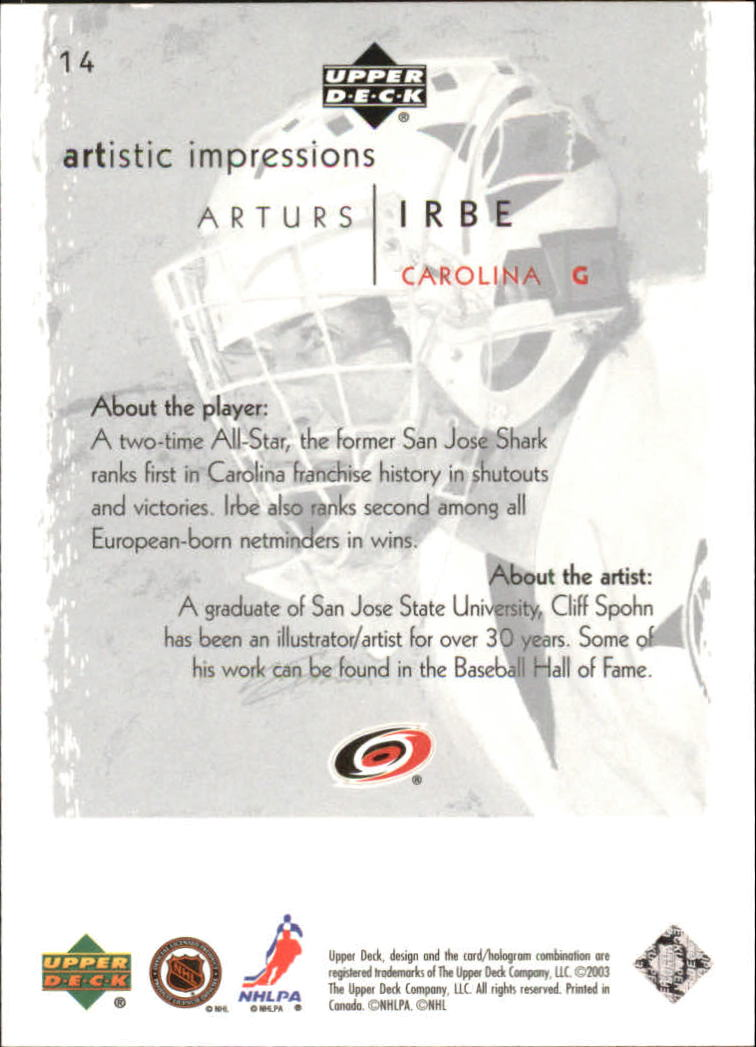 2002-03-UD-Artistic-Impressions-Hockey-Cards-Pick-From-List miniature 25