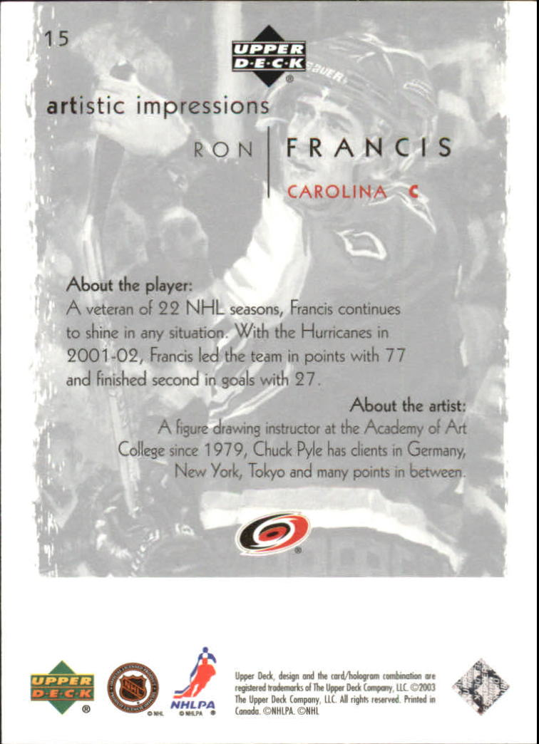 2002-03-UD-Artistic-Impressions-Hockey-Cards-Pick-From-List miniature 27