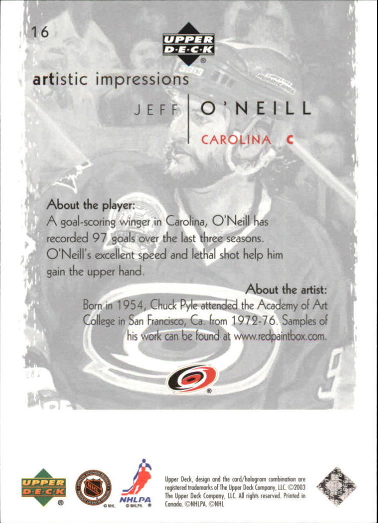 2002-03-UD-Artistic-Impressions-Hockey-Cards-Pick-From-List miniature 29