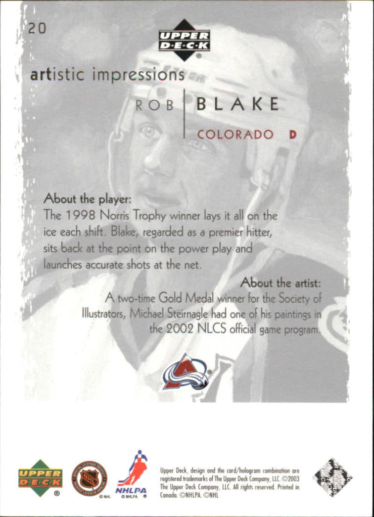2002-03-UD-Artistic-Impressions-Hockey-Cards-Pick-From-List miniature 37
