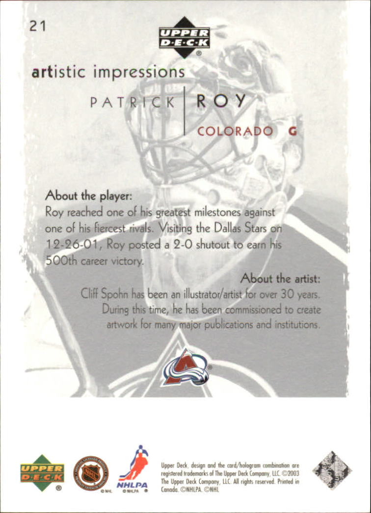 2002-03-UD-Artistic-Impressions-Hockey-Cards-Pick-From-List miniature 39