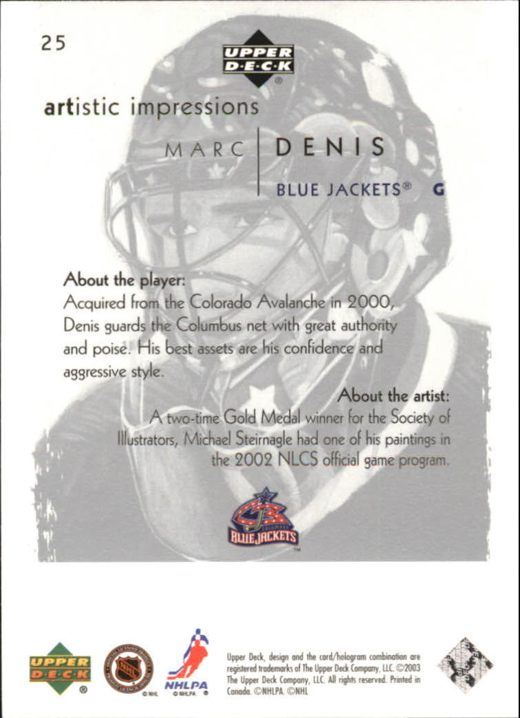 2002-03-UD-Artistic-Impressions-Hockey-Cards-Pick-From-List miniature 47