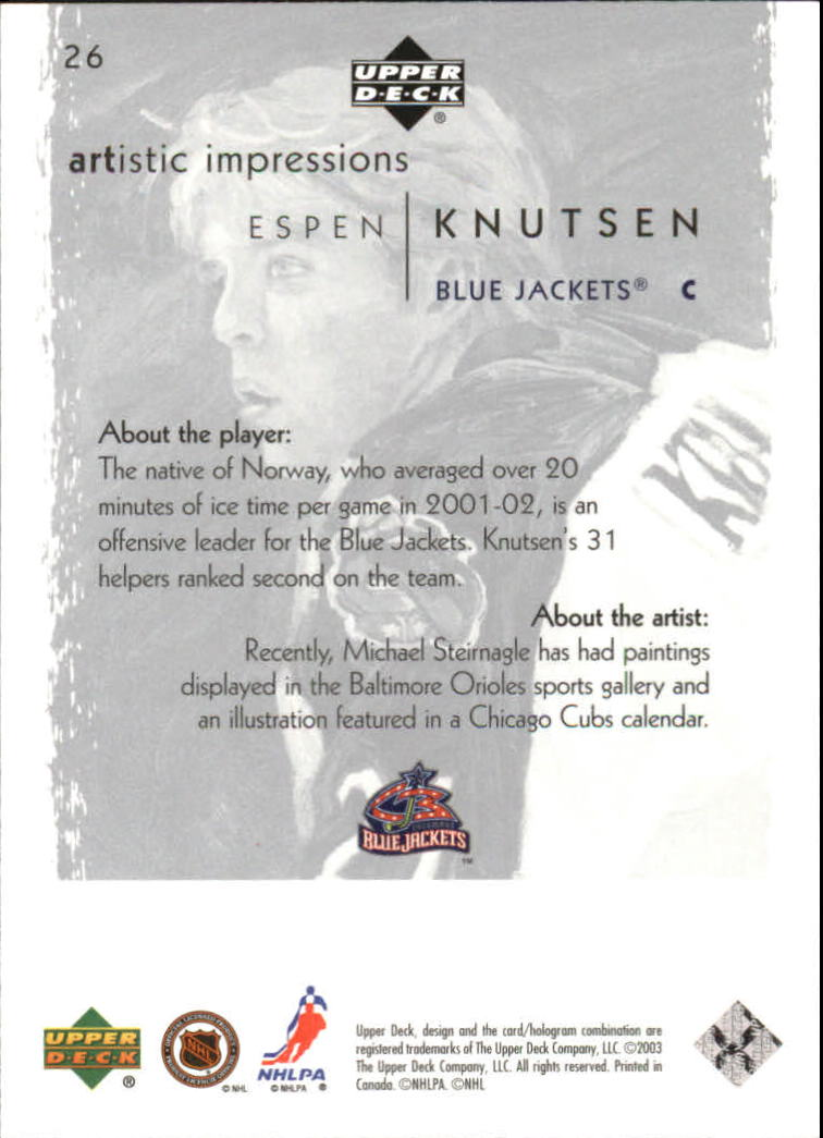 2002-03-UD-Artistic-Impressions-Hockey-Cards-Pick-From-List miniature 49