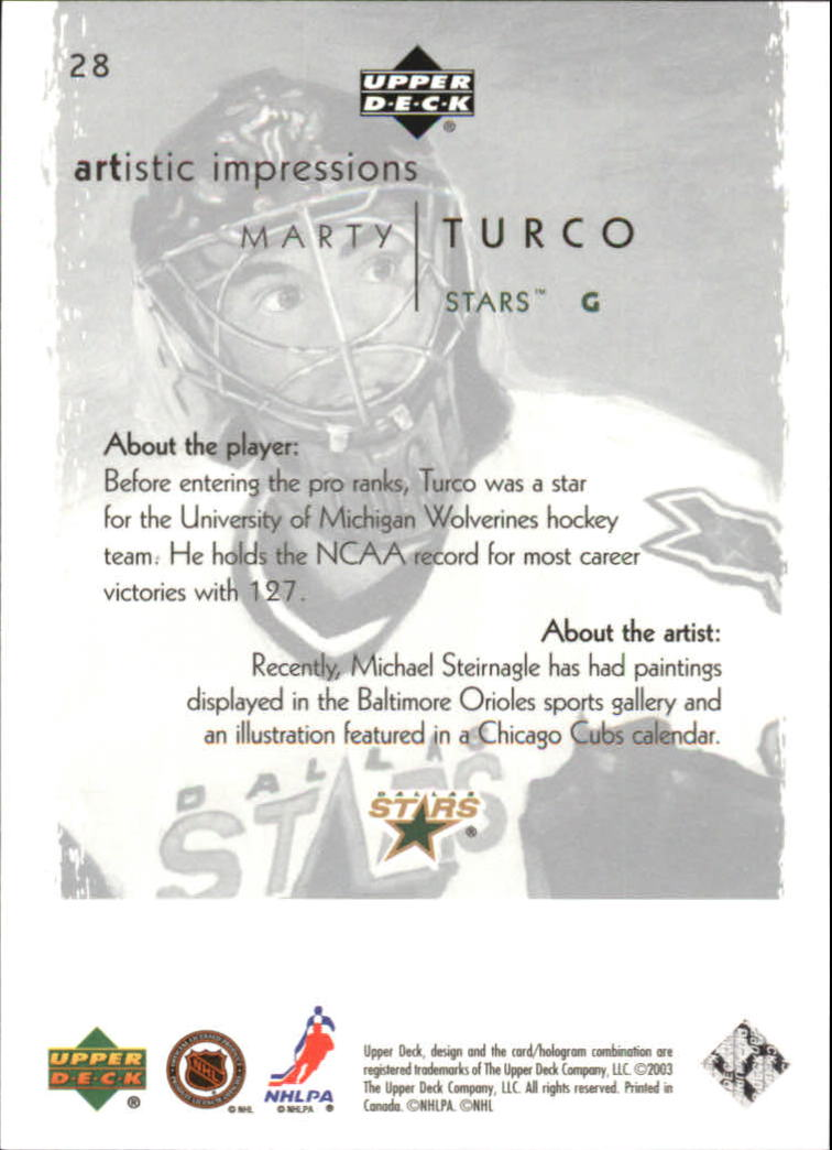 2002-03-UD-Artistic-Impressions-Hockey-Cards-Pick-From-List miniature 53