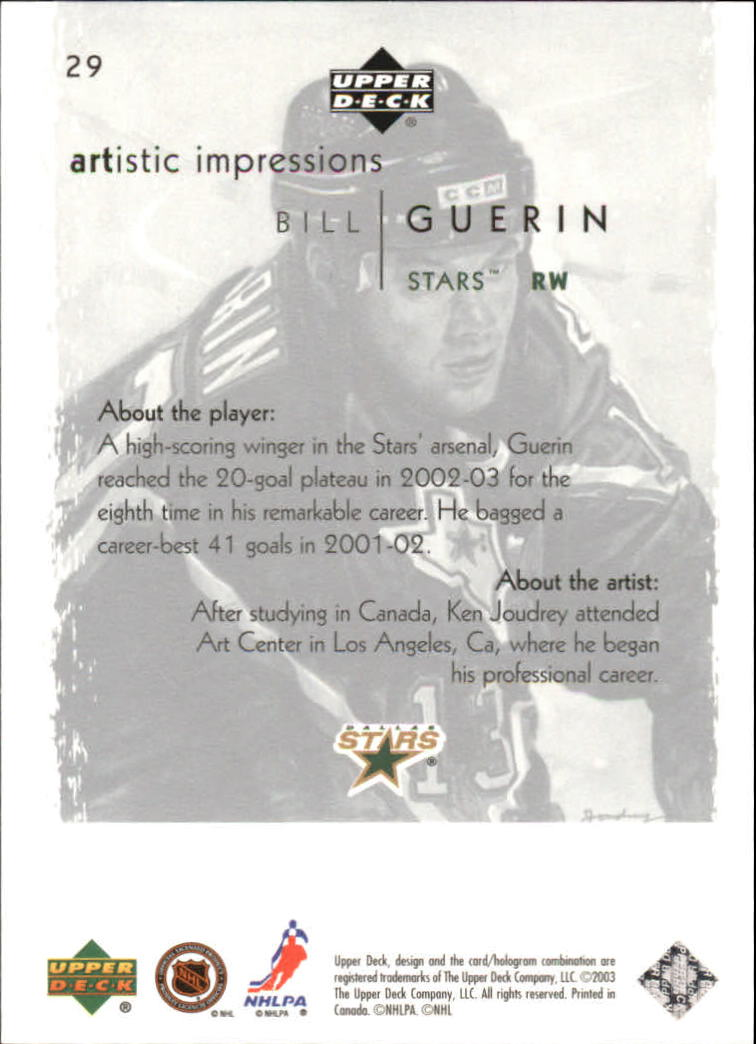 2002-03-UD-Artistic-Impressions-Hockey-Cards-Pick-From-List miniature 55