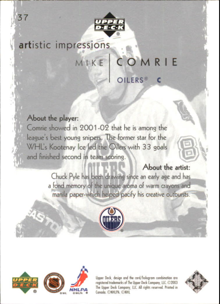 2002-03-UD-Artistic-Impressions-Hockey-Cards-Pick-From-List miniature 69