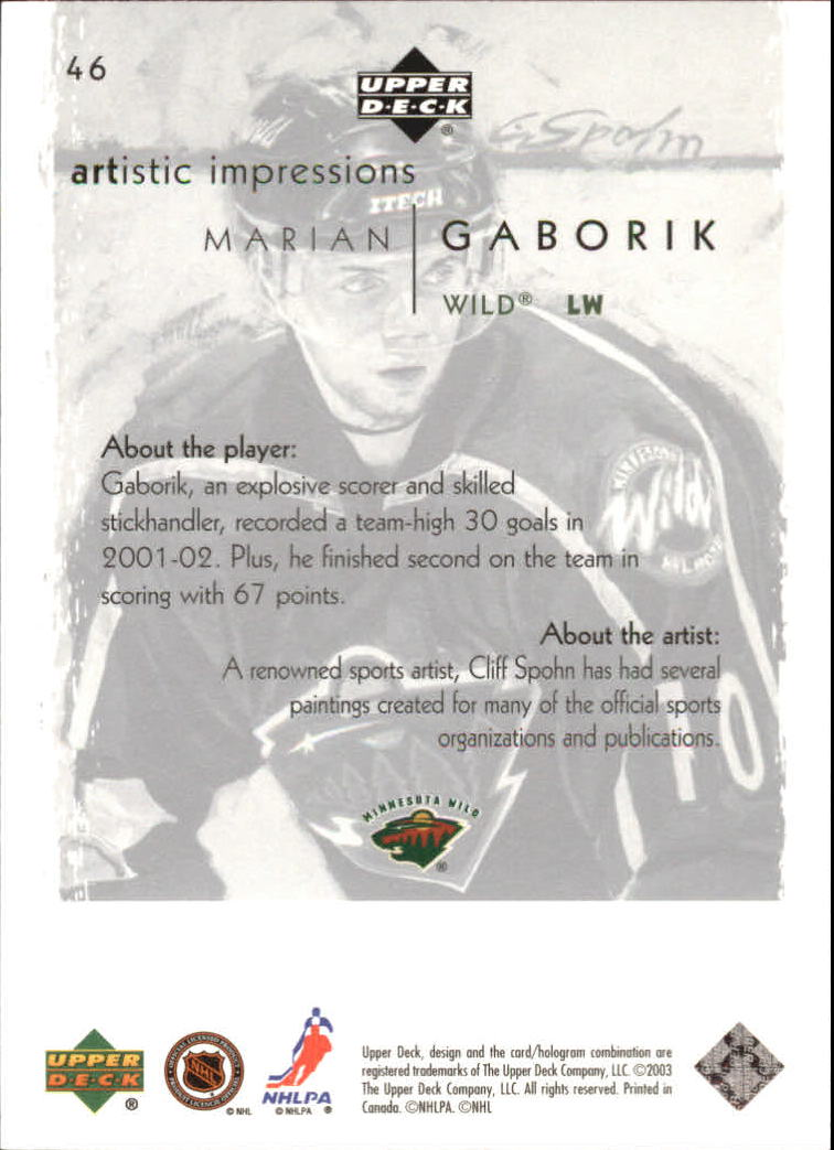 2002-03-UD-Artistic-Impressions-Hockey-Cards-Pick-From-List miniature 85