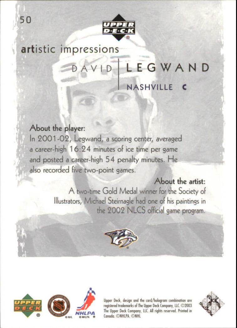 2002-03-UD-Artistic-Impressions-Hockey-Cards-Pick-From-List miniature 89