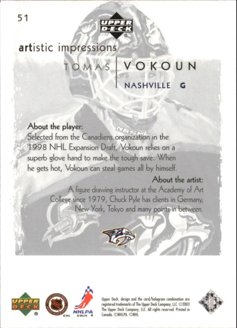 2002-03-UD-Artistic-Impressions-Hockey-Cards-Pick-From-List miniature 91