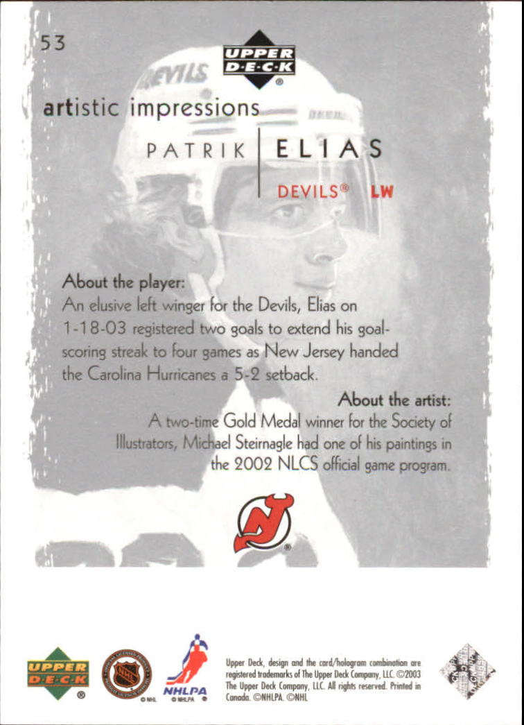 2002-03-UD-Artistic-Impressions-Hockey-Cards-Pick-From-List miniature 95