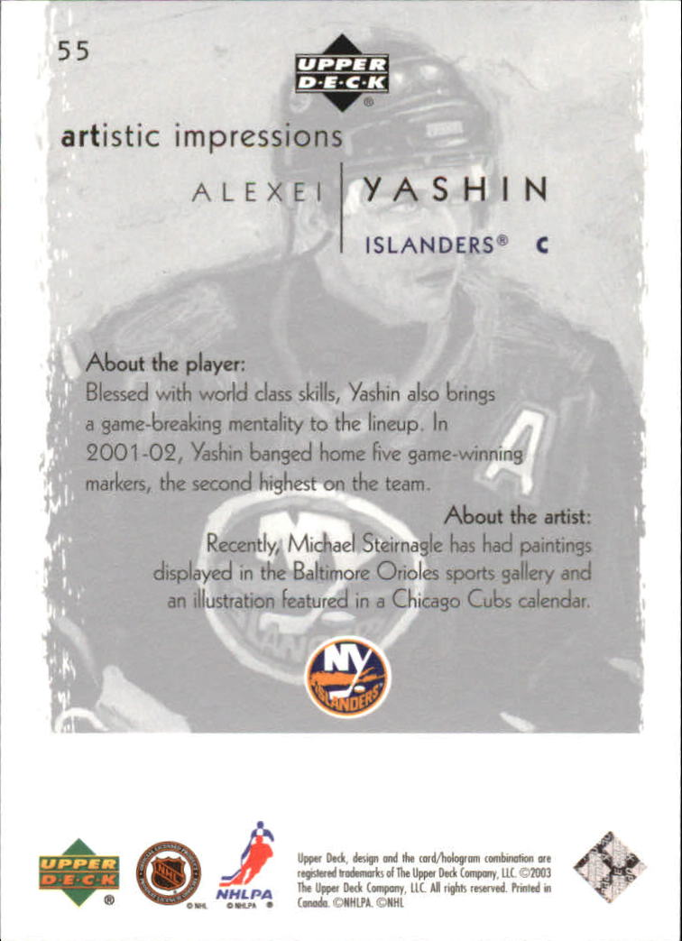 2002-03-UD-Artistic-Impressions-Hockey-Cards-Pick-From-List miniature 99