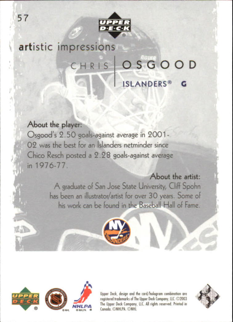 2002-03-UD-Artistic-Impressions-Hockey-Cards-Pick-From-List miniature 103