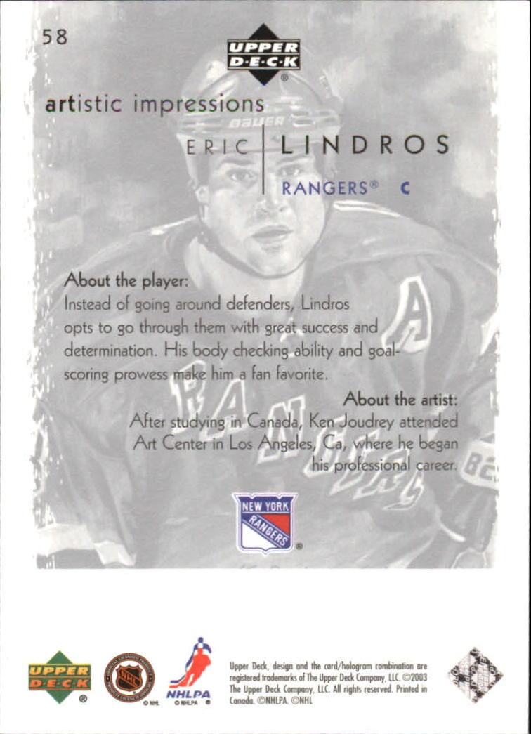 2002-03-UD-Artistic-Impressions-Hockey-Cards-Pick-From-List miniature 105
